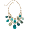 Teal Double Stranded Necklace - Necklaces -