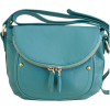 Teal Italian Leather Shoulder Bag - Hand bag -