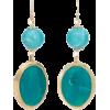 Teal Linear Earrings - Earrings -