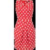 *Tenki Red Polka Dot Print Tulip Shift - Dresses -