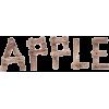 Text Apple - 插图用文字 -