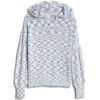 Textured Stripe Hooded Sweater - Pullovers -