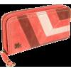 The SAK Iris Zip Around Wallet Papaya Block - Wallets - $29.25