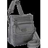 The SAK Parker Leather Small Flap Messenger Cross Body Graphite - バッグ - $84.55  ~ ¥9,516