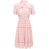The Other Sparrows Pink Floral Ruffle Pl - sukienki -