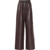 The Row Leather wide-leg pants - Capri & Cropped -