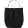 The Row Micro black suede top handle bag - Torebki -