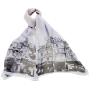 The Streets Of Paris Silk Scarf - Scarf -