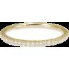Thin Diamond Wedding Ring - Full Eternit - Obroči -