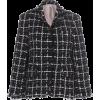 Thom Browne Tweed Frayed Checked Blazer - Jaquetas e casacos -