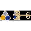 Three Stone Mother's Earrings - Earrings - $419.99