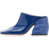 Tibi Leon Patent Leather Mules - Klasyczne buty -