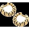 Tiger Stripe Gold Hoops - Earrings -