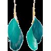 Tirquise Feather earrings - イヤリング -