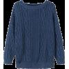 Toast blue knit jumper - Pullovers -