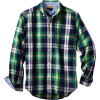 Tommy Hilfiger Boys 8-20 Long Sleeve Burton Plaid Woven Shirt Flag Blue - Long sleeves shirts - $39.50