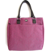 Tommy Hilfiger Large Tote with Patent Leather-like Trims, Pink - Hand bag - $79.98