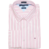 Tommy Hilfiger Men Custom Fit Long Sleeve Logo Striped Shirt Light pink/white/pink - Long sleeves shirts - $41.99