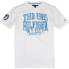 Tommy Hilfiger Men Graphic Logo T-shirt White/Cadet Blue - T-shirts - $24.99