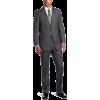 Tommy Hilfiger Men's 2 Button Side Vent Trim Fit Solid Suit with Flat Front Pant Grey - Suits - $262.43