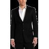 Tommy Hilfiger Men's Two Button Trim Fit 100% Wool Suit Separate Coat Black pin stripe - Suits - $124.70