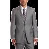 Tommy Hilfiger Men's Two Button Trim Fit 100% Wool Suit Separate Coat Grey solid - Suits - $124.70