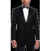 Tommy Hilfiger Men's Two Button Trim Fit Tuxedo Jacket with Peak Lapel Black - Jacket - coats - $119.86