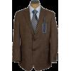 Tommy Hilfiger Mens 2 Button Brown Nailhead Trim Fit Wool Sport Coat Jacket - Kurtka - $129.99  ~ 111.65€