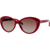 Tommy Hilfiger Women's TH1084S Cat Eye Sunglasses,Red Frame/Brown Gradient Lens,One Size - Sunglasses - $130.91