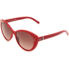 Tommy Hilfiger Women's TH1084S Cat Eye Sunglasses Red Frame/Brown Gradient Lens - Sunglasses - $74.70