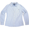 Tommy Hilfiger Womens V-neck Collared Dress Shirt in Light Blue and White Pinstripes (Ladies) - Košulje - duge - $59.99  ~ 51.52€