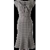 TopVintage Black White Houndstooth dress - Dresses -