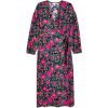 Topshop Floral Print Wrap Dress - Dresses -