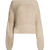 Topshop Off Shoulder Sweater - Pullover -