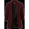 Topshop burgundy blazer - Jacket - coats -