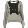 Topshop upside down cat jumper - Pullovers -