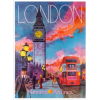Travel Poster London Art by Blivingstons - Ilustracje -