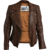Trete clothing leather jacket in brown - Jacket - coats -