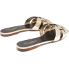 Tribute Nu Pieds metallic-leather slides - Sandals -