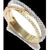Tricolor Unique Diamond Wedding Ring. Ma - Pierścionki -