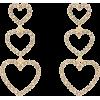 Triple Heart Drop Earrings - Aretes -