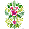 Tropical Leaves Background - Illustraciones -
