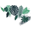 Tropical leaves stencil - Plantas -