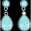 Turquoise Water Drop Earrings - イヤリング -