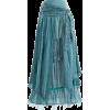 Turquoise Boho Layered Skirt - Skirts -