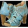 Turquoise sandals - Sandalen -