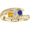 Twisted Shank Three Stone Ring - Rings - $664.99