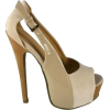 Two-Tone Tan Heels - Classic shoes & Pumps -