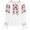 ULLA JOHNSON Devra embroidered cotton bl - 長袖シャツ・ブラウス -