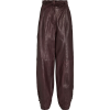 ULLA JOHNSON Navona Leather Trousers - Capri & Cropped -